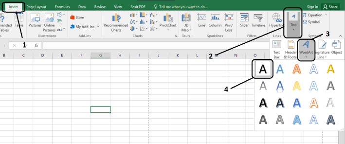 water mark in excel -1