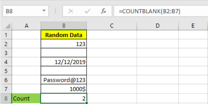 Excel COUNTBLANK function 1.PNG