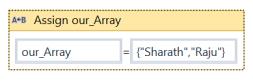 UIpath Convert array to list 1