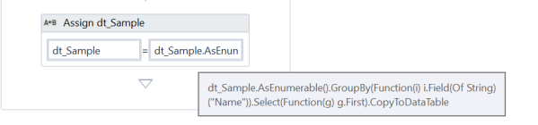 UiPath Remove duplicates from Datatable 4.png