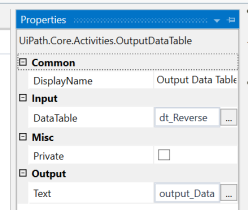 UiPath Reverse a Datatable 5