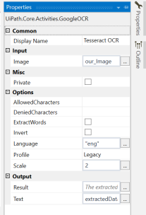 uiPath Extract Text from Image using OCR 4