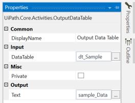 UiPath Rename DataTable Column Name 6
